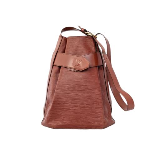 VUITTON d'Epaule Epi leather camel bag