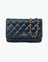 CHANEL Wallet on chain caviar leather bag