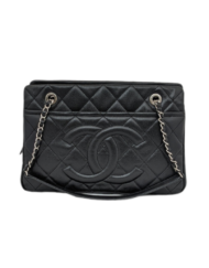 CHANEL caviar timeless CC soft tote bag