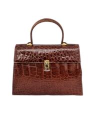 LOEWE crocodile camel vintage bag