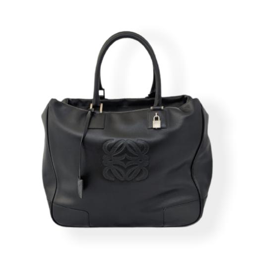 LOEWE Maxi Tote black leather bag