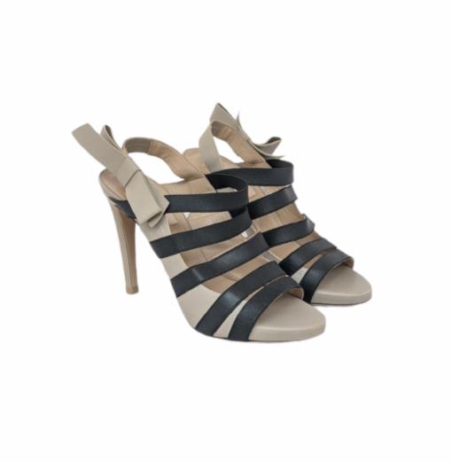VALENTINO grey ribbon sandals