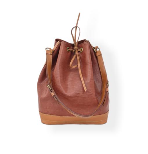 VUITTON Noe MM camel epi leather bag