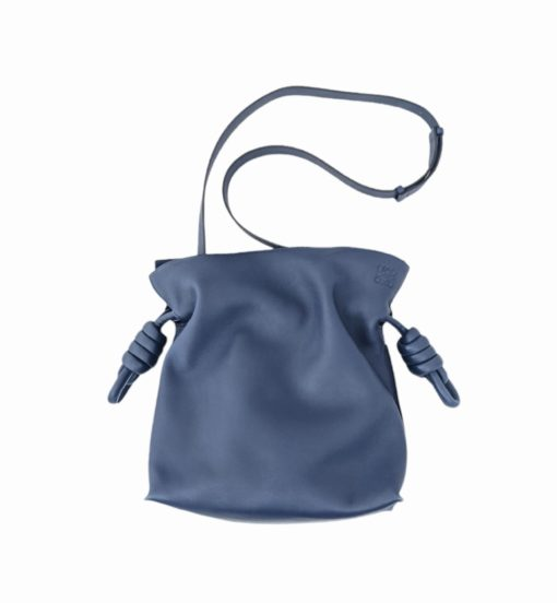 LOEWE Flamenco Knot blue bag