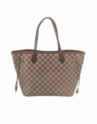VUITTON Neverfull MM damier ebene shopping bag