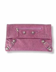 BALENCIAGA Motorcycle pink pouch