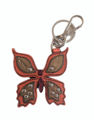 PRADA small leather Butterfly charm