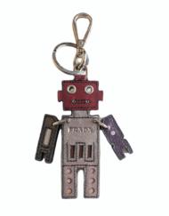 PRADA small leather Robot charm