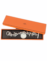 HERMES Tintamarre Clou de Selle Silver Bracelet